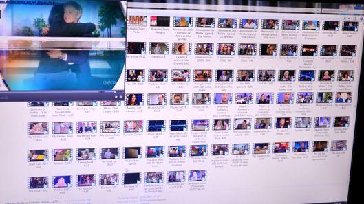 左上は米国のコメディアンが司会を務める、人気トークショー番組の動画