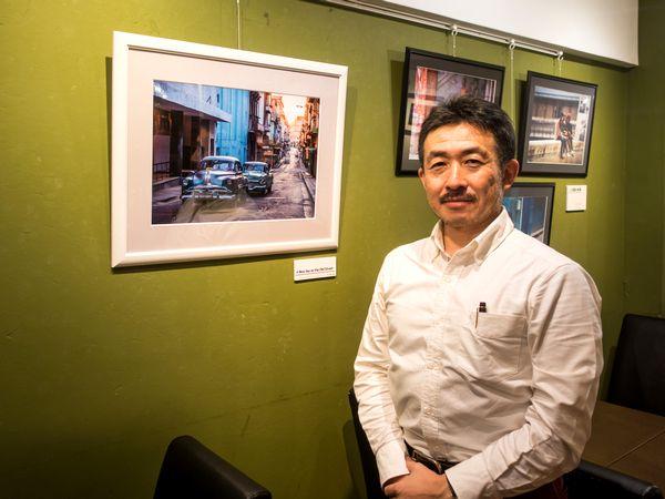 矢島徹至さん。「会場にいらしたみなさんとキューバあるある話をするのも楽しいです」